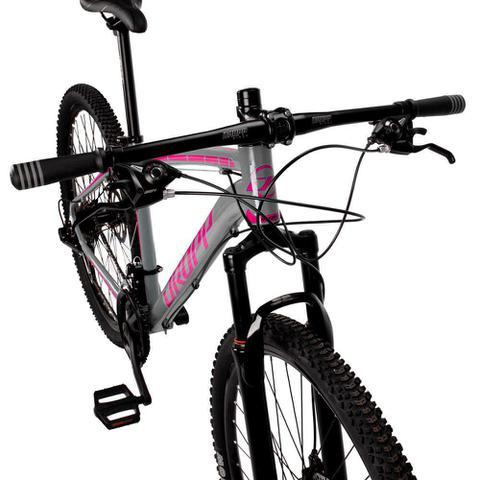 Imagem de Bicicleta Aro 29 Quadro 17 Alumínio 21 Marchas Freio Disco Mecânico Z1-X Cinza/Rosa - Dropp