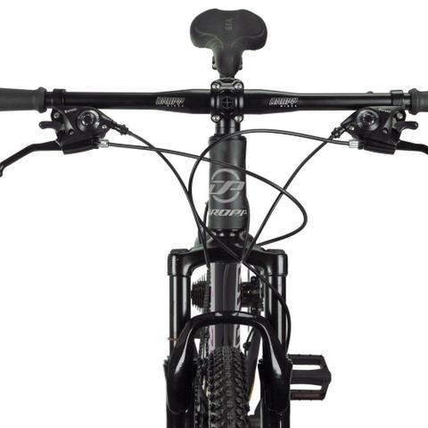 Imagem de Bicicleta Aro 29 Quadro 17 Alumínio 24 Marchas Freio Disco Mecânico Z4-X Preto/Cinza - Dropp