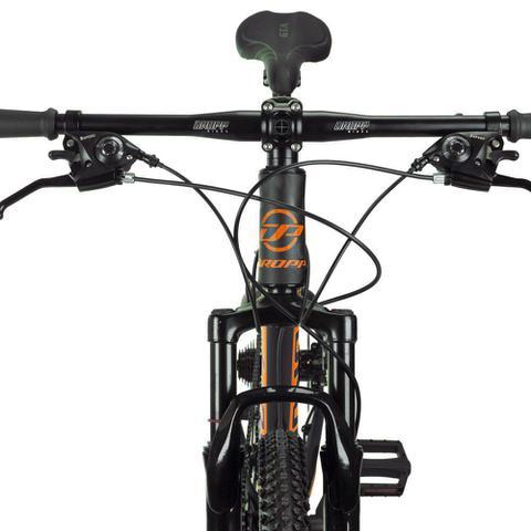 Imagem de Bicicleta Aro 29 Quadro 17 Alumínio 24 Marchas Freio Disco Mecânico Z4-X Preto/Laranja - Dropp