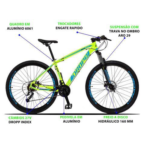 Imagem de Bicicleta Aro 29 Quadro 17 Alumínio 27 Marchas Freio Disco Hidráulico Z3-X Amarelo/Azul - Dropp