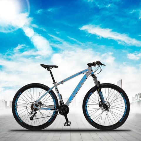 Imagem de Bicicleta Aro 29 Quadro 17 Alumínio 27 Marchas Freio Disco Hidráulico Z3-X Cinza/Azul - Dropp