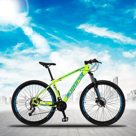 Imagem de Bicicleta Aro 29 Quadro 19 Alumínio 27 Marchas Freio Disco Hidráulico Z3-X Amarelo/Azul - Dropp