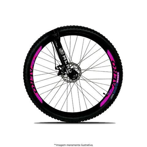 Imagem de Bicicleta Aro 29 Quadro 19 Freio a Disco Mecânico 21 Marchas Alumínio Preto Rosa - Dropp