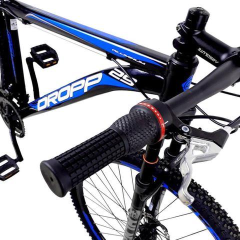 Imagem de Bicicleta Aro 29 Quadro 21 a Freio Disco Mecânico 21 Marchas Alumínio Preto Azul - Dropp