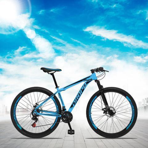 Imagem de Bicicleta Aro 29 Quadro 21 Alumínio 21 Marchas Freio a Disco Mecânico Azul - Dropp