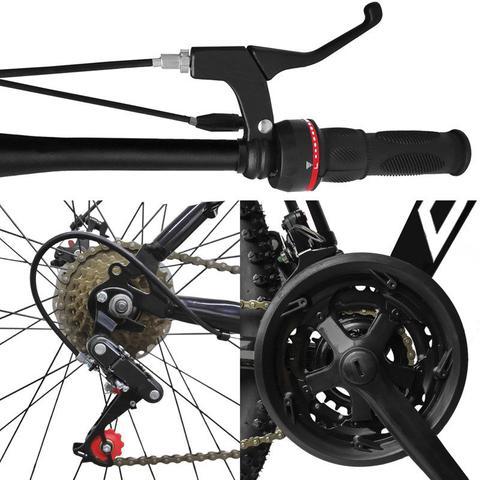 Imagem de Bicicleta Aro 29 Quadro 21 Alumínio 21 Marchas Freio a Disco Mecânico Preto/Vermelho - Dropp