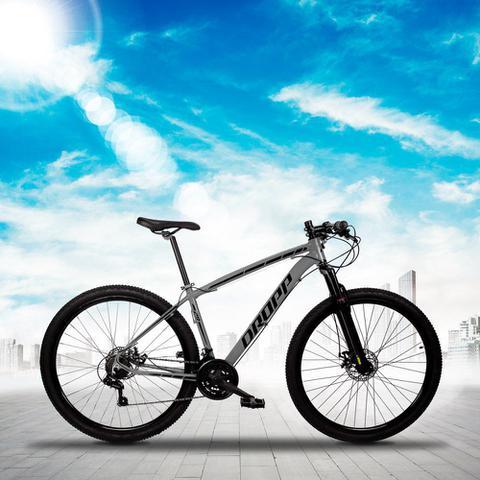 Imagem de Bicicleta Aro 29 Quadro 21 Alumínio 21 Marchas Freio Disco Mecânico Z1-X Cinza/Preto - Dropp