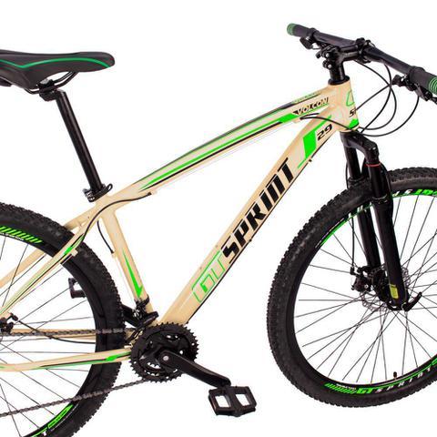 Imagem de Bicicleta Aro 29 Quadro 21 Alumínio 21v Câmbio Tras. Shimano Freio Mecânico Volcon Creme - GT Sprint