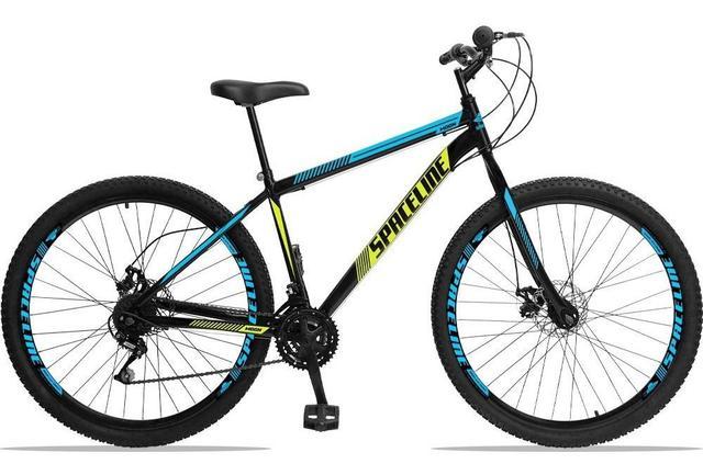 Bicicleta Spaceline Moon Disc T17 Aro 29 Rígida 21 Marchas - Branco/preto