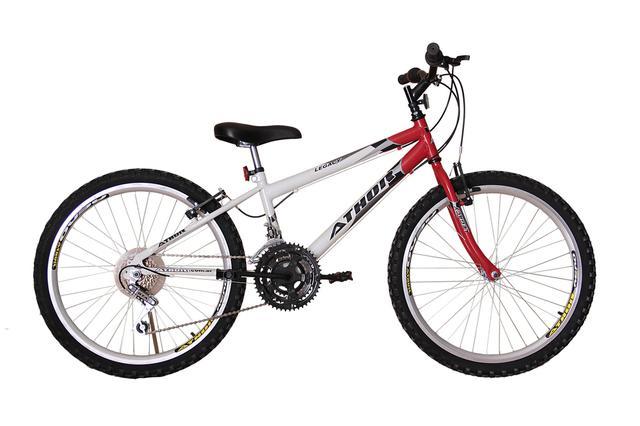 Imagem de Bicicleta athor aro 24 mtb 18/m legacy masculino vermelha