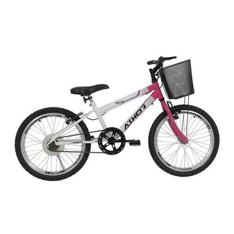 Bicicleta Athor Bike Charmy Aro 20 Rígida 1 Marcha - Branco/rosa