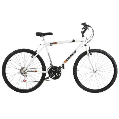 Imagem de Bicicleta Branca Aro 26 18 Marchas Carbono Pro Tork Ultra