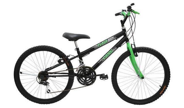 Imagem de Bicicleta cairu 24 mtb reb 18m flash boy pto/verd