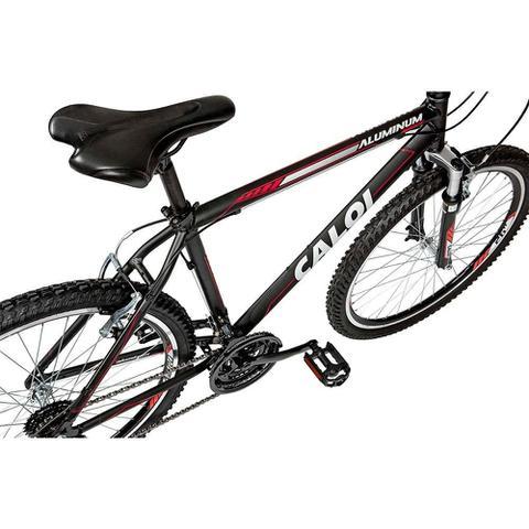 Imagem de Bicicleta Caloi Aluminum Sport Aro 26, 21 Marchas MTB, Suspensão Dianteira, Preta