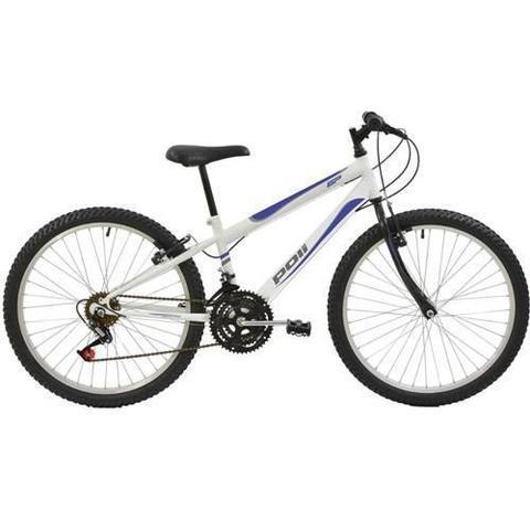 Imagem de Bicicleta Delta MTB Aro 24 V-Brake Branca 18v