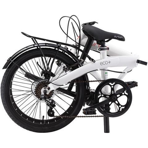Imagem de Bicicleta Dobrável Aro 20'' e 6 Marchas Branca - Durban Eco+
