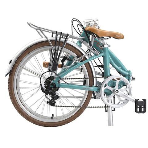 Imagem de Bicicleta Dobrável Aro 20 e 6 Marchas Durban Rio XL Turquesa