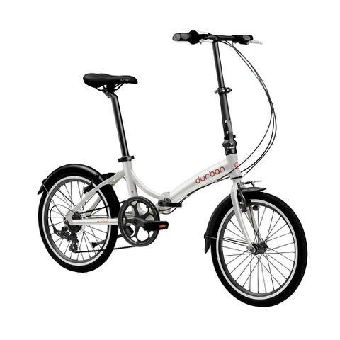 """Imagem de Bicicleta dobrável Durban aro 20"""" de 6 velocidades Shimano e quadro de aço carbono Rio"""