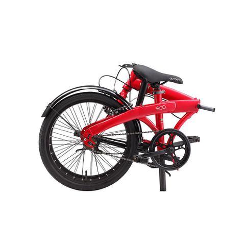 Imagem de Bicicleta Dobrável Durban Aro 20 Quadro de Aço Eco Vermelho