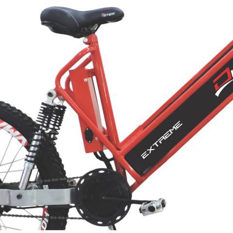 Imagem de Bicicleta Elétrica 800W Aro 26 Full Suspention EXTREME Vermelha