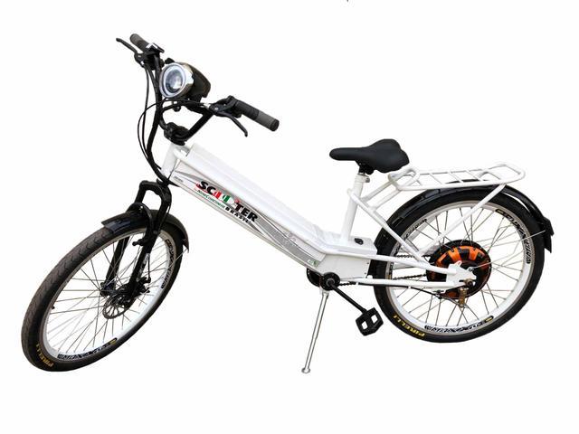 Imagem de Bicicleta Elétrica 850w Scooter Brasil Branca