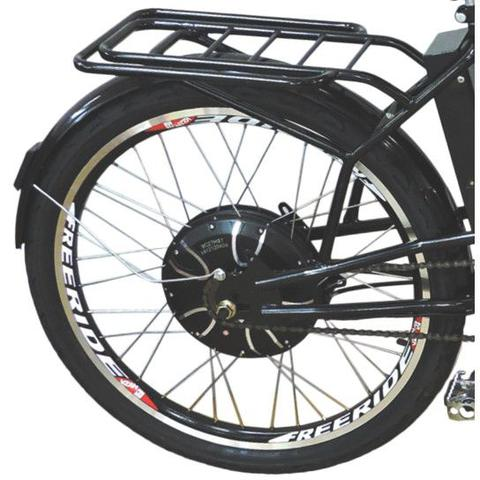 Imagem de Bicicleta Elétrica Cargo 800W 48V 12Ah Aro 26 Preta