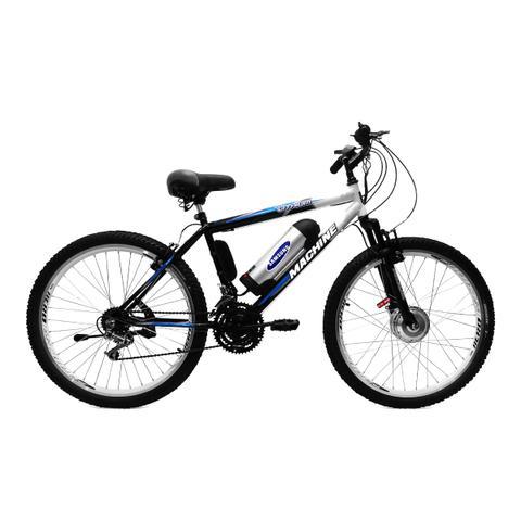 Imagem de Bicicleta Elétrica Machine Motors Basic Lithium 350W 36V Preto/Branco