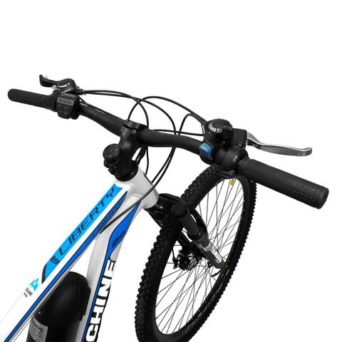 Imagem de Bicicleta Elétrica Machine Motors Liberty 350W 36V Branco/Azul