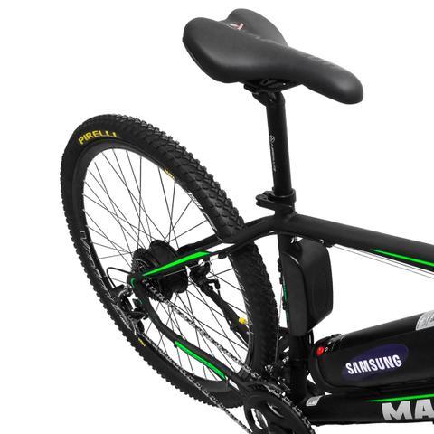 Imagem de Bicicleta Elétrica Machine Motors Liberty 350W 36V Preto/Verde