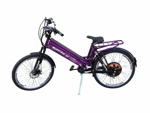 Imagem de Bicicleta Eletrica Scooter Brasil 850W Com Suspensão e Garupa Violeta
