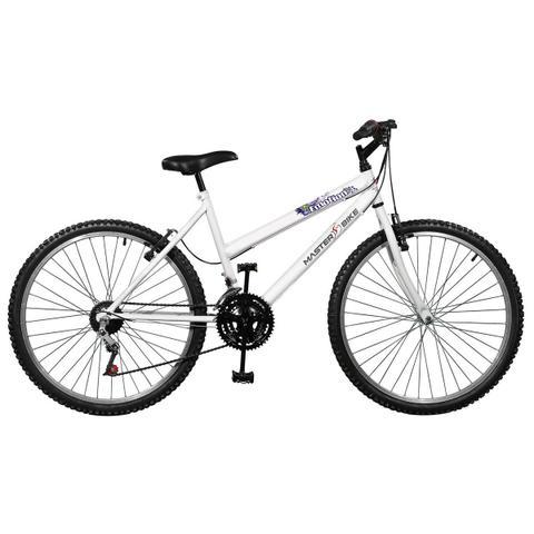 Imagem de Bicicleta Emotion 18 Marchas Aro 26 Branca Master Bike