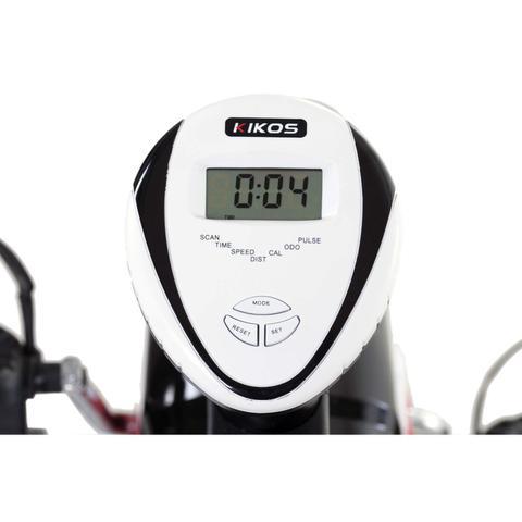 Imagem de Bicicleta Ergométrica Horizontal KR3.8 Kikos Fitness KW Preto/Branco