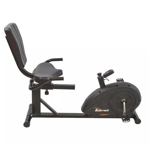 Imagem de Bicicleta ergométrica horizontal magnética polimet bh-3800  cd