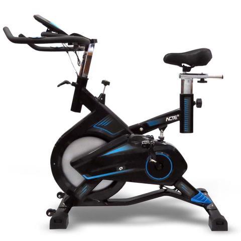 Imagem de Bicicleta Ergométrica Para Spinning Pro Preta E Azul E17 Acte