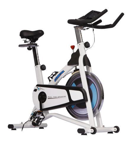 Imagem de Bicicleta ergometrica spinning branca 120kg oneal bf069