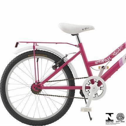 98192fe40 Imagem de Bicicleta Fast Girl Aro 20 Feminina Rosa E Branco 2910 Fischer