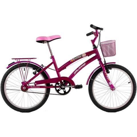 Imagem de Bicicleta Feminina Aro 20 com cestinha Susi Rosa Verniz
