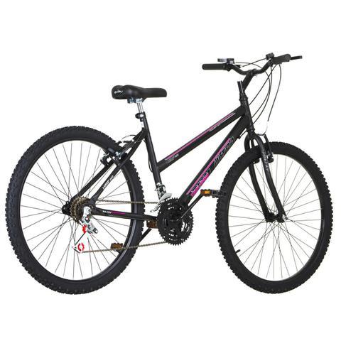 Imagem de Bicicleta Feminina Preta Fosca Aro 26 18 Marchas Pro Tork Ultra