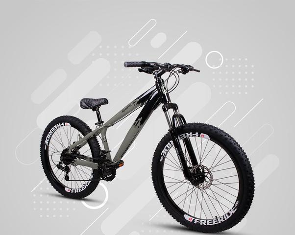Imagem de Bicicleta Gios FRX Freeride Aro 26 Freio a Disco 21 Velocidades Cambios Shimano  Gios Preto Grafitte