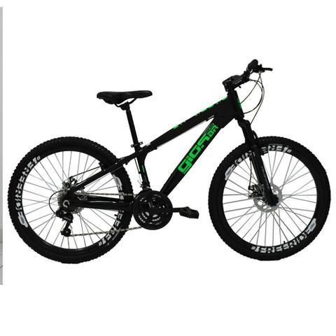 Imagem de Bicicleta Gios FRX Freeride Aro 26 Freio a Disco 21 Velocidades Cambios Shimano  Gios Preto Verde