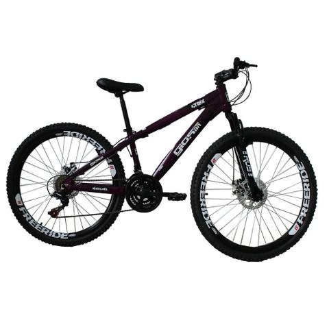 Imagem de Bicicleta Gios FRX Freeride Aro 26 Freio a Disco 21 Velocidades Cambios Shimano Roxo perolizado
