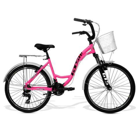Bicicleta Gts M1 Walk Urbano Aro 26 Susp. Dianteira 21 Marchas - Rosa
