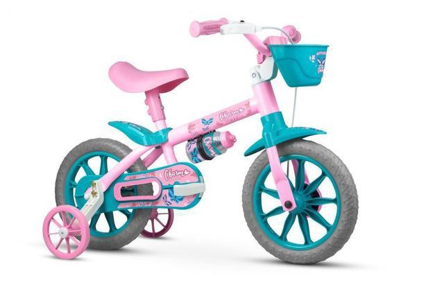 Bicicleta Nathor Charm Aro 12 Rígida 1 Marcha - Azul/rosa