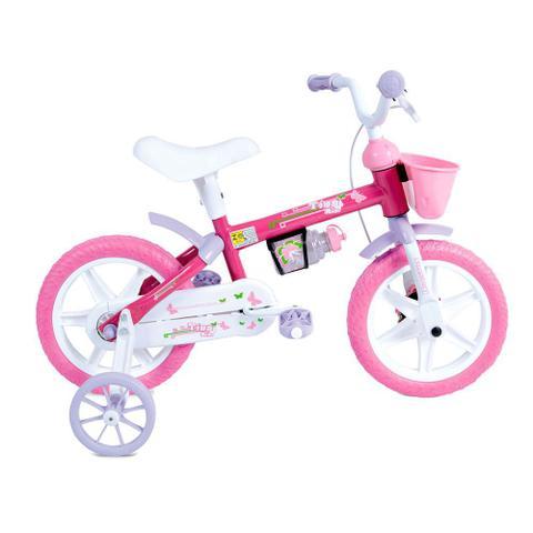 Bicicleta Houston Tina Aro 16 Rígida 1 Marcha - Branco/rosa