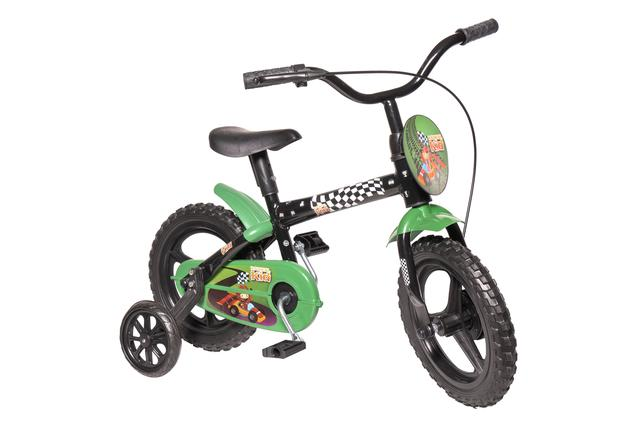 Bicicleta Styll Radical Kid Aro 12 Rígida 1 Marcha - Preto/verde