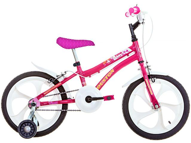 Bicicleta Houston Tina Aro 16 Rígida 1 Marcha - Rosa