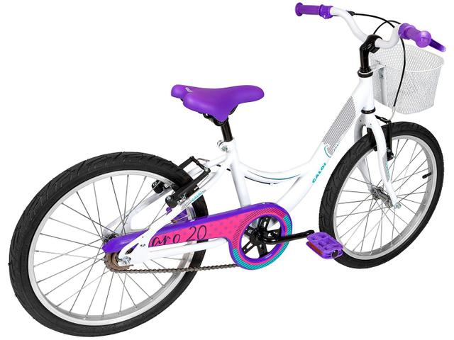 Imagem de Bicicleta Infantil Aro 20 Caloi Ceci Branco