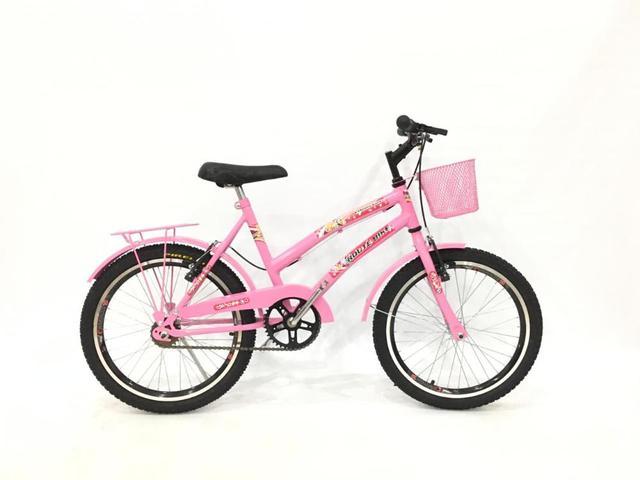 Imagem de Bicicleta Infantil Aro 20 Feminina Com Cestinha