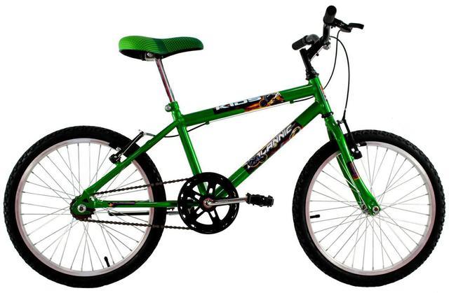 Imagem de Bicicleta Infantil Aro 20 Masculina Cross Kids Verde Neon