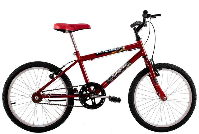Imagem de Bicicleta Infantil Aro 20 Masculina Cross Kids Vermelha
